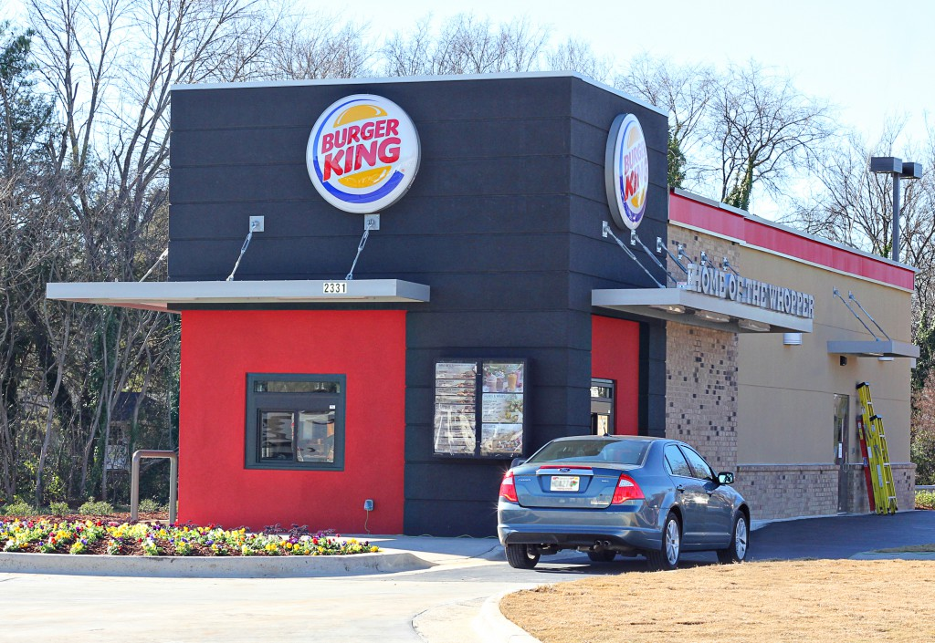 Site Plan Design for 14 Burger King Restaurants, Various Cities in North Alabama