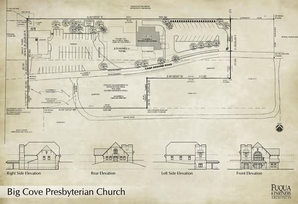 Big Cove Presbyterian Church Site Design, Huntsville, AL