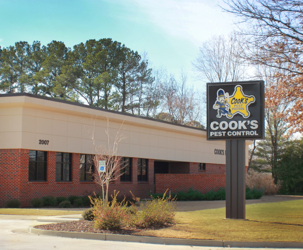 Site Plan Design for 5 Cook's Pest Control Sites, Alabama