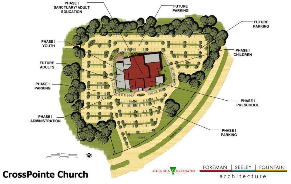 Crosspointe Church Masterplan & Site Plan Design , Madison, AL