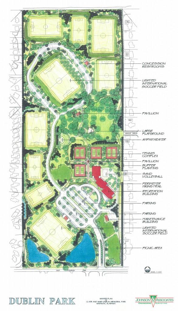 Dublin Park Master Plan and Site Design, Madison, AL
